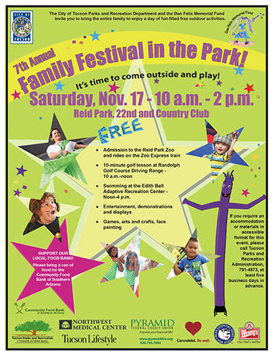 FAMILY FESTIVAL IN THE PARK SAT, NOV 17