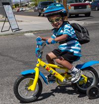Cyclists of all ages and abilities participate in Cyclovia. photo: Kathleen Dreier/Esens Photography