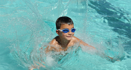 "Swimming is a part of UA Rec Center's ""A"" Camp.  photo: James S. Wood/courtesy UA Campus Recreation"