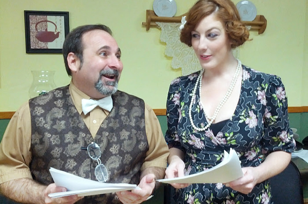 Tony Eckstat and Meagan Jones performing with Golden Age of Radio Theater in August. Photo: Dave Sewell