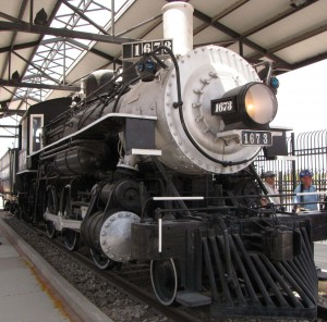 Steam Engine #1673 at the Southern Arizona Transportation Museum.
