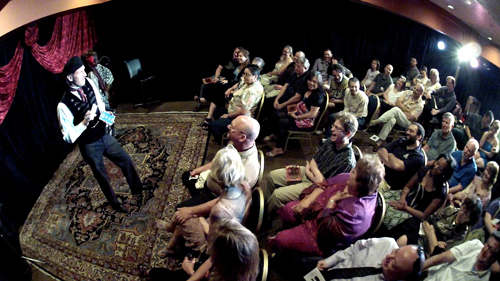 The intimate setting of the Carnival of Illusion show. Photo: Open Lens