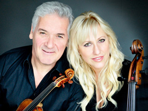 TSO presents Pinchas Zukerman, a virtuoso violinist, with his wife, Amanda Forsyth, Principal Cellist with Canada's National Arts Center Orchestra on March 31, 2015.