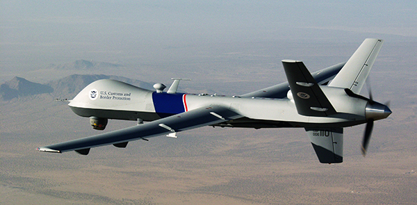 A U.S. Customs and Border Protection drone. photo: Gerald L. Nino/CBP Photographer