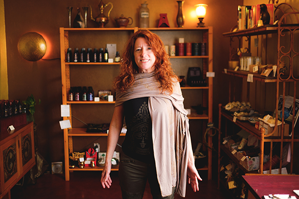 Kate Becker, therapeutic perfumer, at her downtown boutique Ritual by Kate's Magik. Photo by Julius Schlosburg